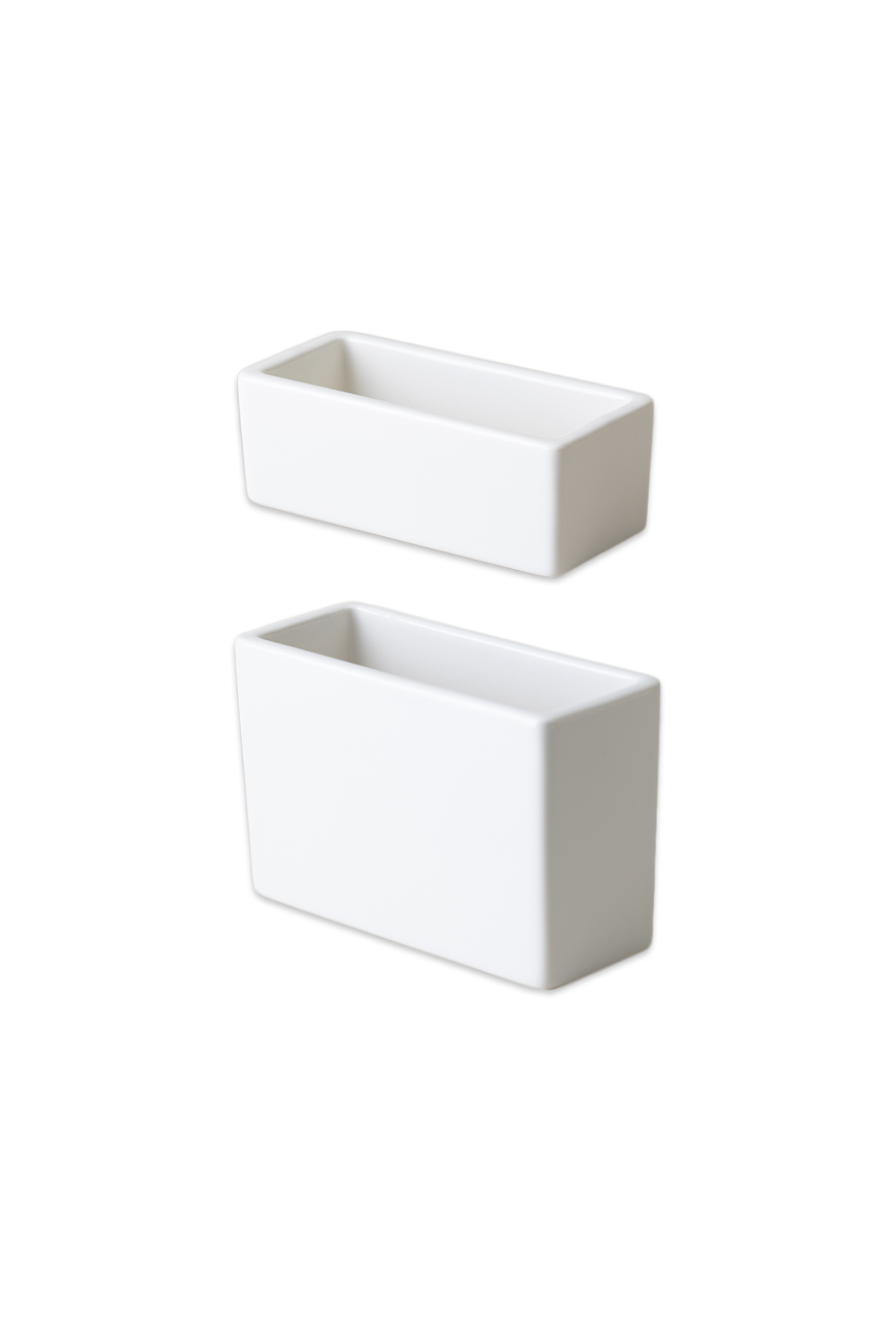 White porcelain square pot