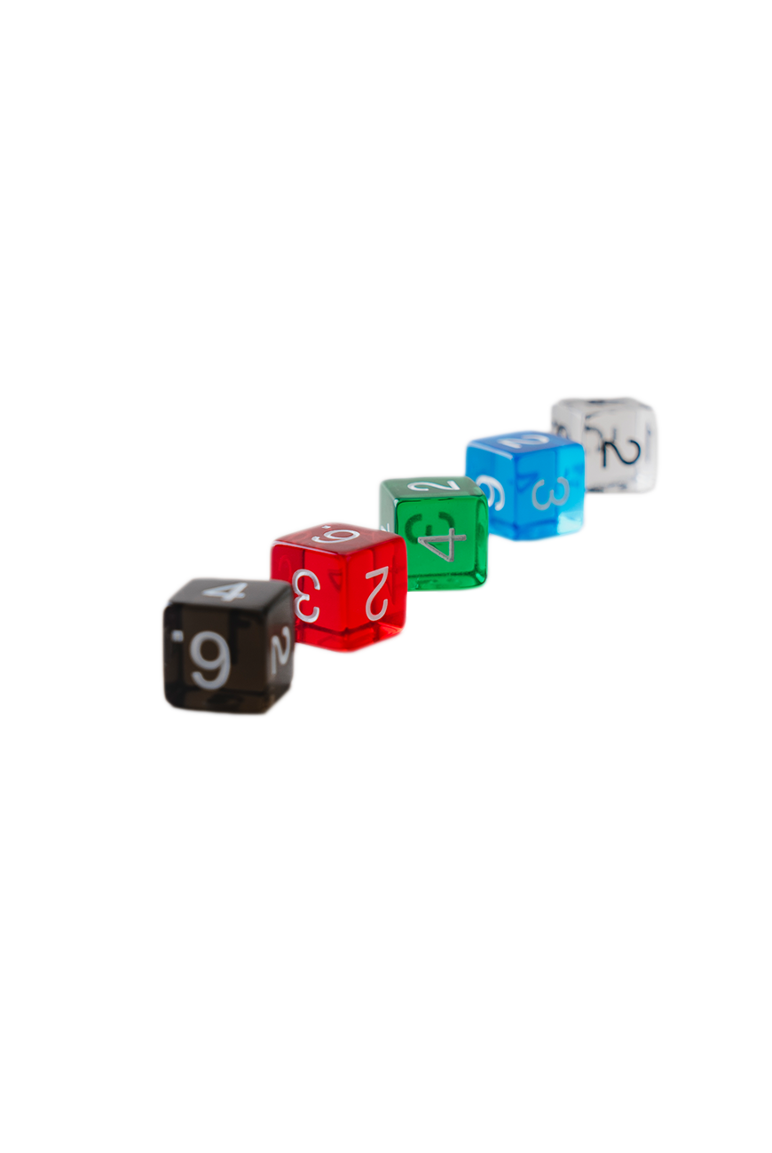 Pentahedron dice clear 5set