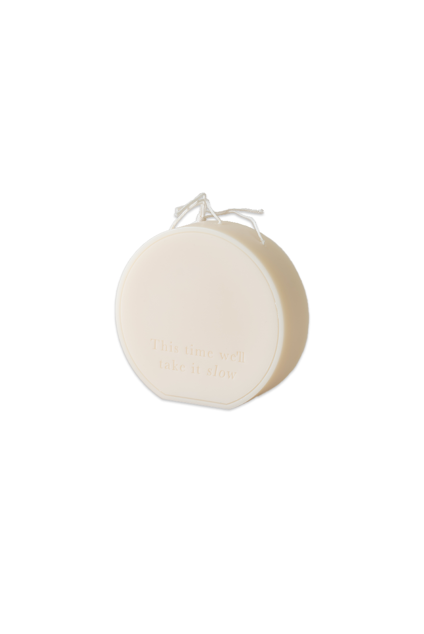 Message candle - Ivory